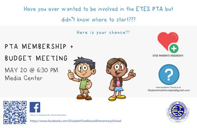 PTA Meeting flyer